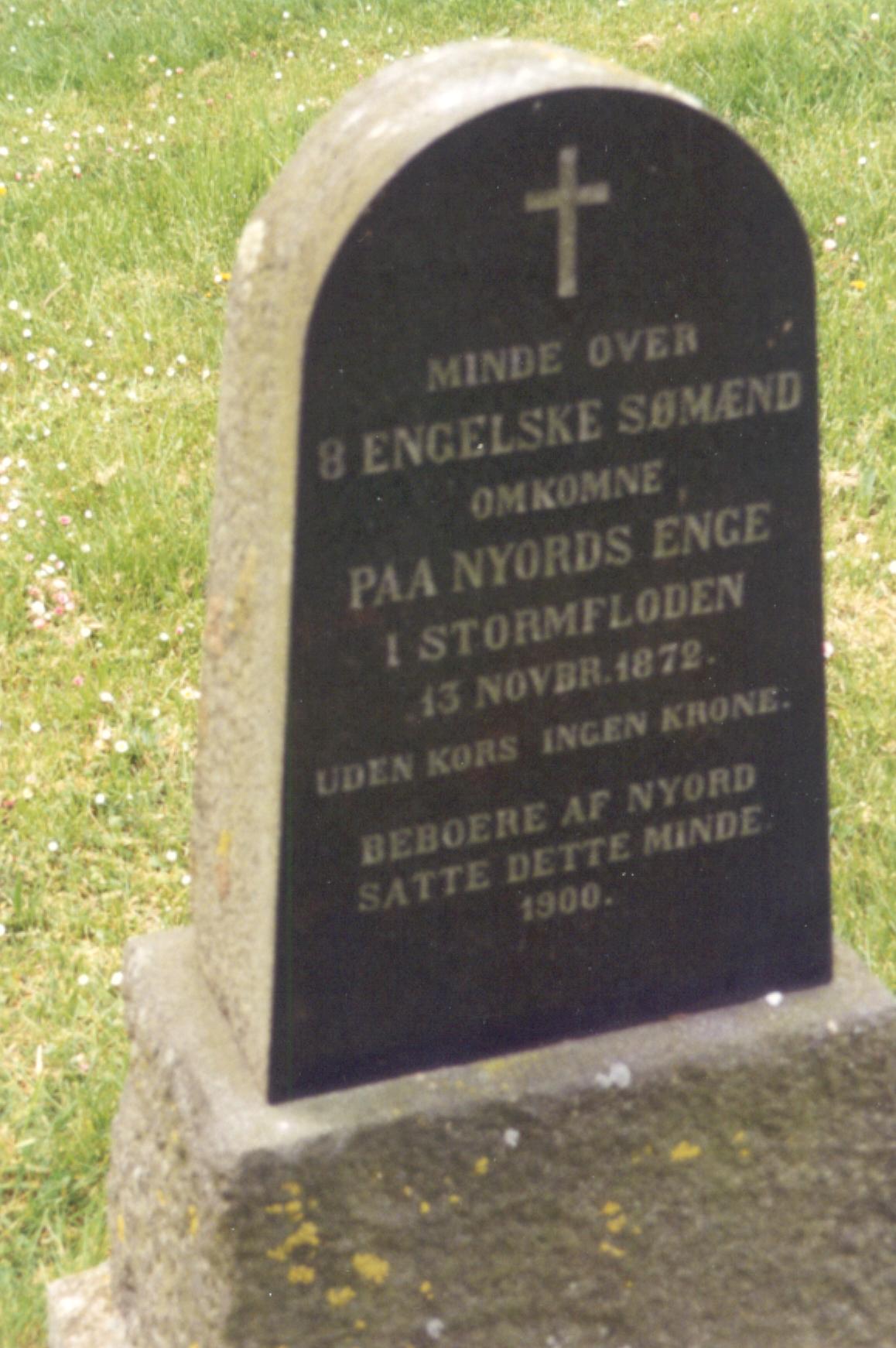 Mindestenen ved Nyord kirkegård