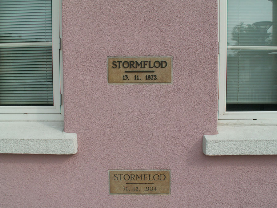 Mindesmærke opsat i Sønderborg i forbindelse med stormfloden 1872