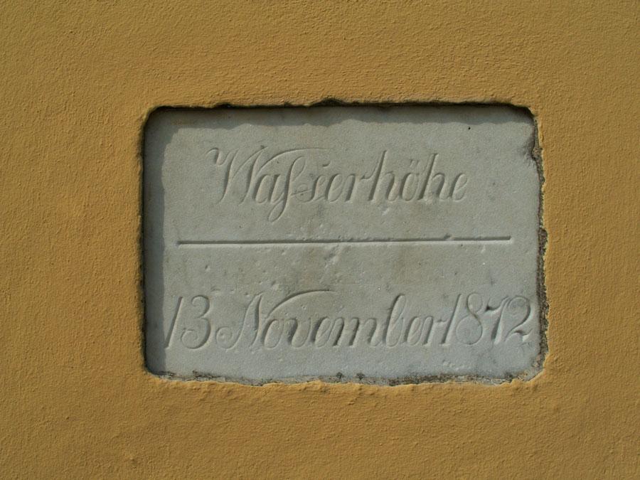 Mindesmærke fra Aabenraa Toldbod opsat i forbindelse med stormfloden 1872